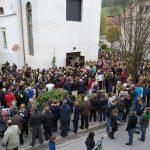 Cvetna nedelja: blagoslov zelenja in svete maše iz župnij Šmarje pri Jelšah in Ponikva (video)