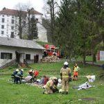 Vaja ZiR: gorelo je v dvorcu Strmol v Rogatcu (foto, video)