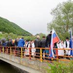 Prijateljsko na mostu Kunšperk-Gmajna (foto in video)