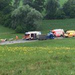 Zaradi hude prometne nesreče več kot dve uri zaprta cesta Šentjur – Šmarje (foto)