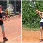 Na prvem letošnjem turnirjev mladih tenisačev zmagi za Leo in Lana
