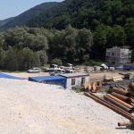 Dela na modernizaciji pregrade Vonarje v polnem teku (foto)