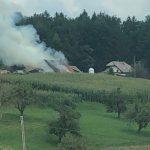 V Šmarju pri Jelšah nov velik požar. Vzrok najverjetneje ponovno samovžig sena (foto – dopolnjeno)