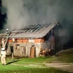 Nočni požar pri Dramljah (foto)