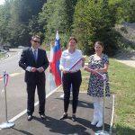Župan Diaci in ministrica Bratuškova simbolično predala namenu dva projekta v Občini Šentjur (foto, video)