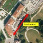 Enomesečna popolna zapora dela lokalne ceste na Zdraviliškem trgu v Rogaški Slatini