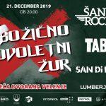 Bliža se Božično Novoletni Žur s Šank Rock, TABU, San Di Ego in Lumberjack – ponujamo cenejše vstopnice
