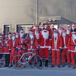 Božički tudi letos kolesarili od Šentjurja do Šmarja pri Jelšah (foto, video)