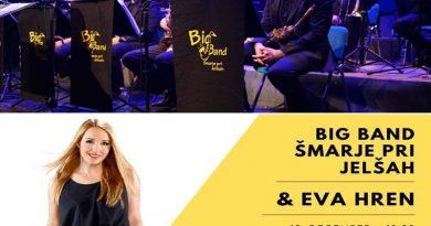 Vabimo na koncert Big Banda Šmarje pri Jelšah z Evo Hren – ponujamo cenejše vstopnice