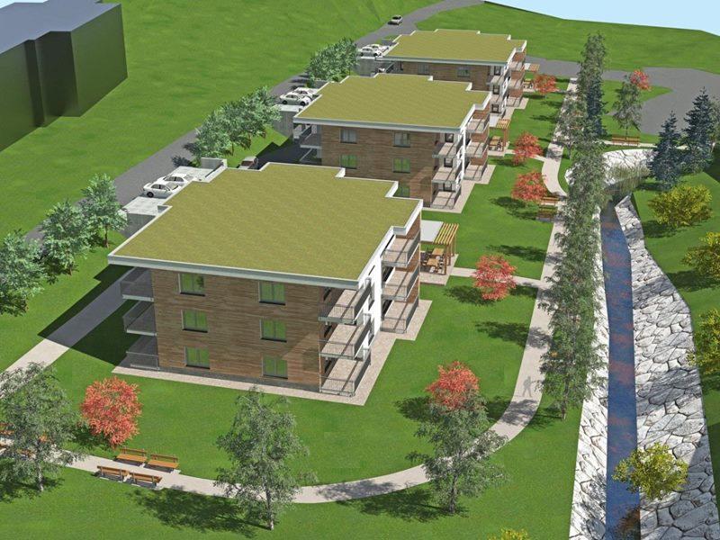 Začela se bo prva faza izgradnje oskrbovanih stanovanj na lokaciji za Kulturnim domom Šmarje (območje Lorgerjeve domačije). Klik za povečavo