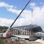 Gradnja tribun v Rogaški Slatini napreduje (foto)