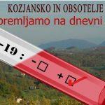 Spremljanje dogajanja v zvezi s koronavirusom na Kozjansko-Obsoteljskem (časovnica)