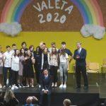 Kozjanski devetošolci pomahali v slovo skupaj s predsednikom Pahorjem