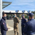Obrambni minister Tonin na Celjskem. Obiskal mejni prehod Dobovec, Občino Šmarje, URSZR Celje in celjsko vojašnico (foto)