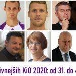50 najvplivnejših KiO 2020: od 31. do 40. mesta