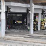 Eksplozija na avtobusni postaji v Celju (foto)