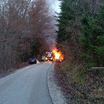 V Šentjurju zgoreli dve vozili (foto)