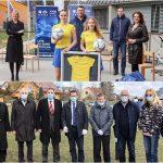 Pred začetkom EURA U21 v Celju: dresi in žoge za dekleta, zastave za našo reprezentanco in drevesa držav, ki jih bo gostilo Celje