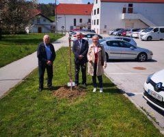 MS Šentjur: zasadiev so si ogledali predsednik MS Zdenko Horvat, direktor Šolskega centra Šentjur mag. Branko Šket in Staška Buser iz ŠC Šentjur.