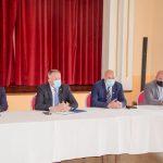 Gospodarstveniki v Bistrici ob Sotli z ministrom Zdravkom Počivalškom v glavnem o vplivu epidemije na gospodarstvo in njegovem okrevanju