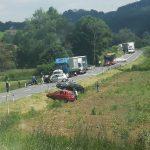 Hudo prometno nesrečo v Šentjurju povzročila voznica začetnica