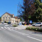 Delna zapora državne ceste skozi Šmarje pri Jelšah