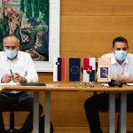 Šentjurski župan Marko Diaci podpisal pogodbi za sanacijo plazov in izgradnjo pločnika