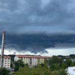 Na Celjskem se je razbesnela nevihta s točo (foto)