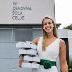 Mlečna kraljica Ajda Podlesnik in Mlekarna Celeia razveselili skoraj 3000 prvošolcev iz vse Slovenije